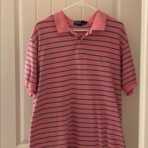 Ralph Lauren polo pink green XL Euc
